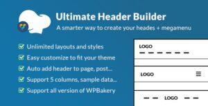 Download free Ultimate Header Builder v1.6.4.1 – Addon WPBakery Page Builder