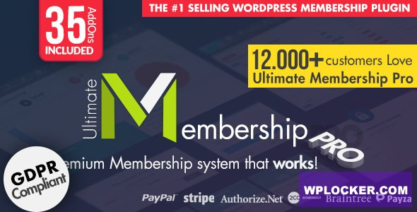 Download free Ultimate Membership Pro WordPress Plugin v9.1