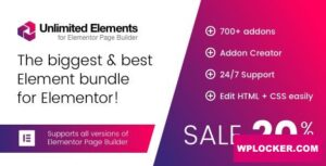 Download free Unlimited Elements for Elementor Page Builder v1.4.42