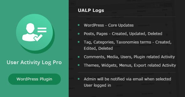Download free User Activity Log PRO for WordPress v1.6.1
