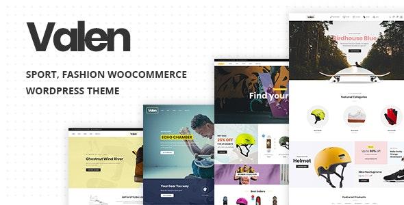Download free Valen v1.8 – Sport, Fashion WooCommerce WordPress Theme
