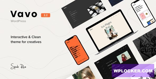 Download free Vavo v2.2 – An Interactive & Clean Theme for Creatives