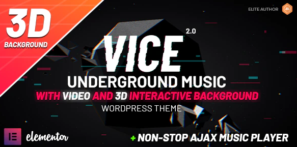 Download free Vice: Music Band, Dj and Radio WordPress Theme v2.0.1