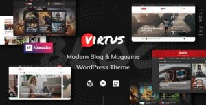 Download free Virtus v1.1.0 – Modern Blog & Magazine WordPress Theme