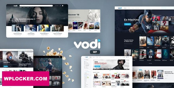 Download free Vodi v1.2.1 – Video WordPress Theme for Movies & TV Shows