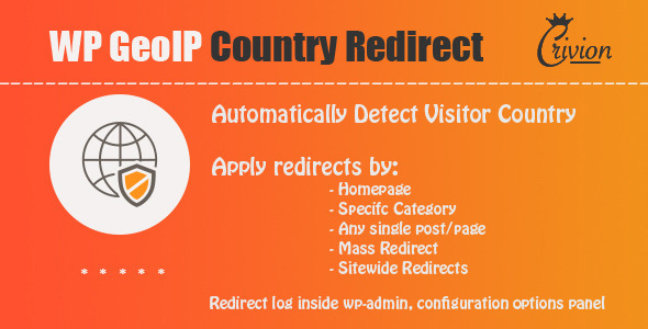 Download free WP GeoIP Country Redirect v3.3