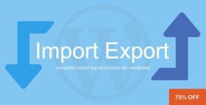 Download free WP Import Export v3.0.1
