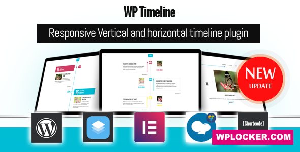 Download free WP Timeline v3.5.1 – Responsive timeline plugin