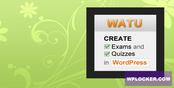 Download free WatuPro v6.4.2 – Premium WordPress Plugin To Create Exams, Tests and Quizzes