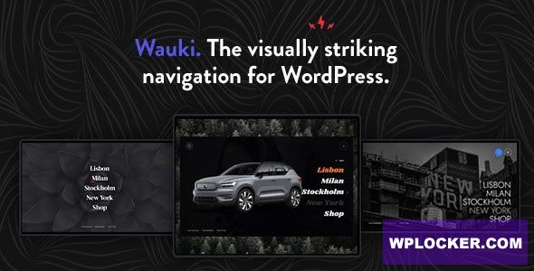 Download free Wauki v1.0 – Fullscreen WordPress Menu