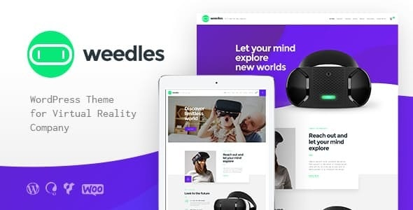 Download free Weedles v1.1.3 – Virtual Reality Landing Page & Store WordPress Theme