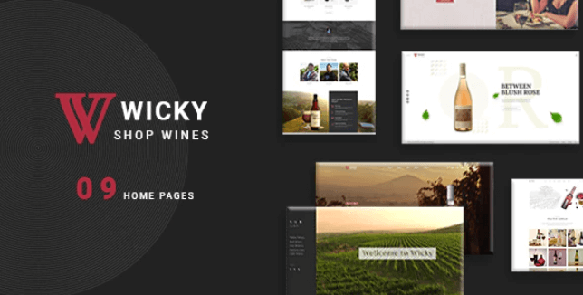 Download free Wicky v1.0 – Wine Shop WooCommerce WordPress Theme