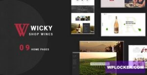 Download free Wicky v1.0.0 – Wine Shop WooCommerce Theme