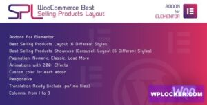 Download free WooCommerce Best Selling Products Layout for Elementor v1.0.0 – WordPress Plugin
