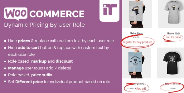 Download free Woocommerce Dynamic Pricing By User Role v1.4