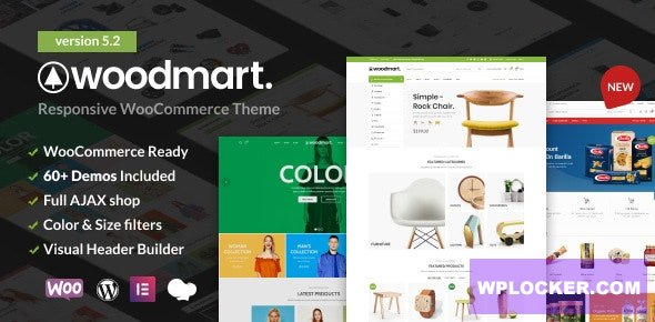Download free WoodMart v5.2.0 – Responsive WooCommerce WordPress Theme