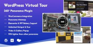 Download free WordPress Virtual Tour 360 Panorama Plugin v1.0.5
