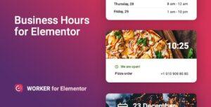 Download free Worker v1.0.1 – Business hours widget for Elementor
