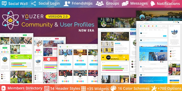 Download free Youzer v2.5.2 – Buddypress Community & bbPress Forums & User Profiles WordPress Plugin Nulled + Addons