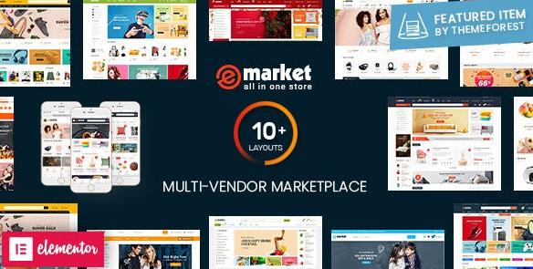 Download free eMarket v2.7.0 – Multi Vendor MarketPlace WordPress Theme