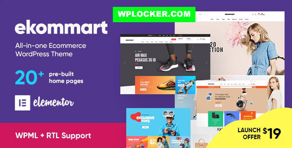 Download free ekommart v1.9.0 – All-in-one eCommerce WordPress Theme