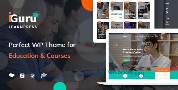 Download free iGuru v1.0.9 – Education & Courses WordPress Theme