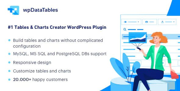Download free wpDataTables v3.0.2 – Tables and Charts Manager for WordPress