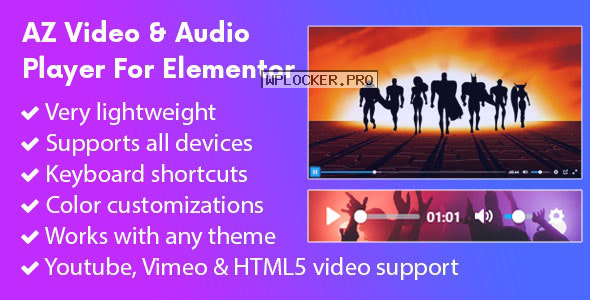AZ Video and Audio Player Addon for Elementor v1.0.9
