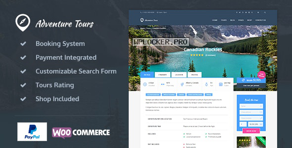 Adventure Tours v4.0.1 – WordPress Tour/Travel Theme