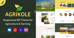 Agrikole v1.4 – Responsive WordPress Theme for Agriculture & Farming