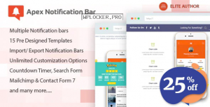 Apex Notification Bar v2.1.5 – Responsive Notification Bar