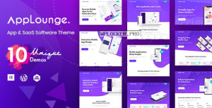 AppLounge v1.1.1 – Multipurpose SaaS WordPress Theme