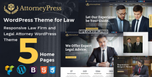 Attorney Press v2.1.2 – Lawyer WordPress Theme