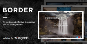 BORDER v1.9.2 – A Delightful Photography WordPress Theme
