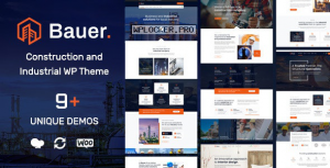 Bauer v1.7 – Construction and Industrial WordPress Theme