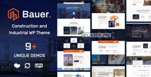 Bauer v1.8 – Construction and Industrial WordPress Theme
