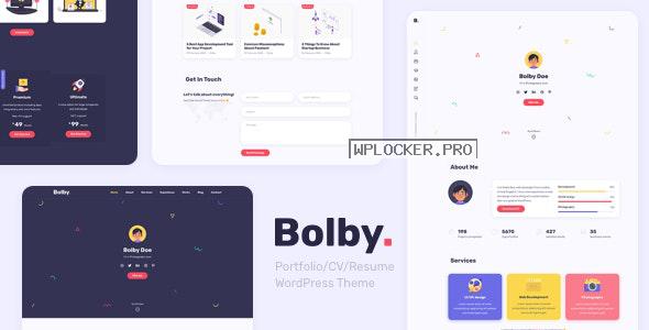 Bolby v1.0.2 – Portfolio/CV/Resume WordPress Theme