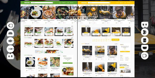 Boodo WP v2.5 – Food and Magazine Shop WordPress Theme