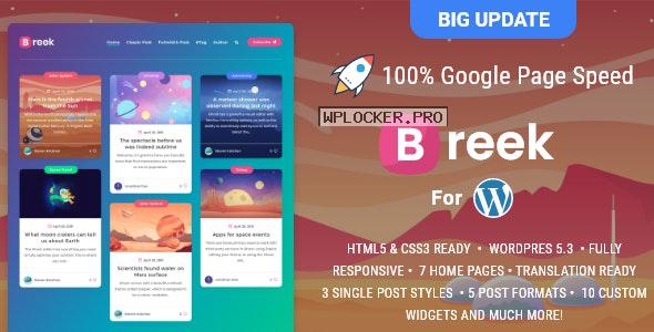 Breek v3.5.7 – Minimal Masonry Theme for WordPress