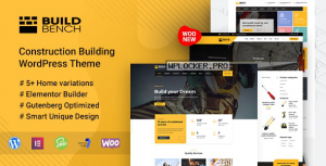 Buildbench v1.8 – Construction Building WordPress Theme