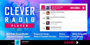 CLEVER v1.6.2 – HTML5 Radio Player With History – Shoutcast and Icecast – WordPress Plugin