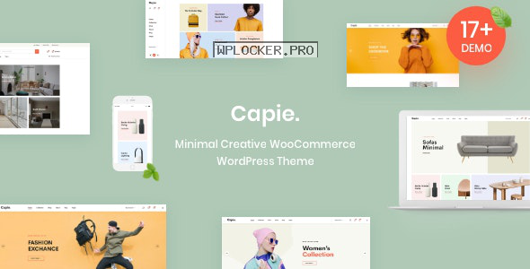 Capie v1.0.18 – Minimal Creative WooCommerce WordPress Theme