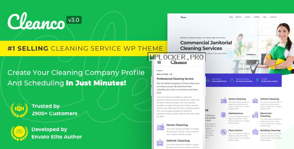 Cleanco v3.2.0 – Cleaning Company WordPress Theme