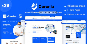 Coronia v1.0.0 – Covid 19 & Medical WordPress Themes