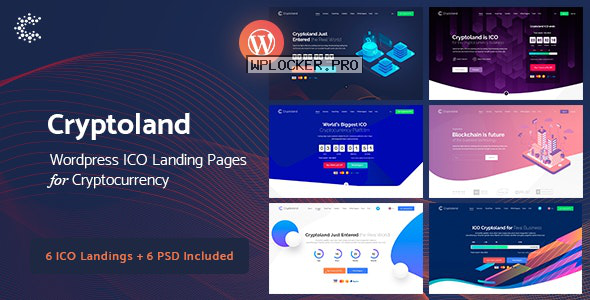 Cryptoland v2.2.3 – ICO Landing Pages WordPress Theme
