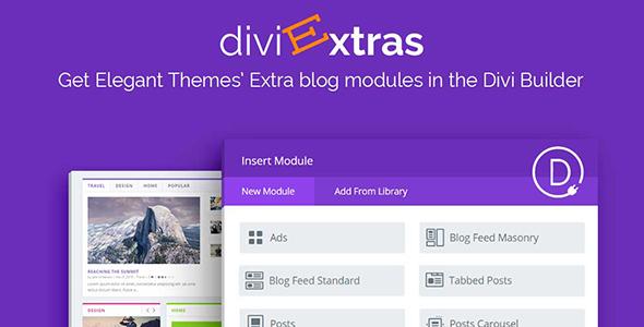 Divi Extras v1.1.7 – Extra Theme Blog Modules Added To Divi Builder