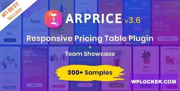 Download free ARPrice v3.7.1 – Ultimate Compare Pricing table plugin