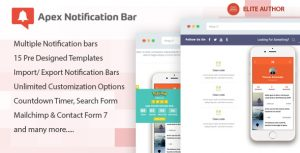 Download free Apex Notification Bar v2.1.4 – Responsive Notification Bar