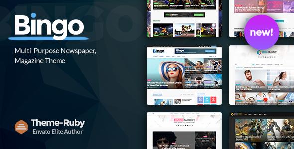 Download free Bingo v2.7 – Multi-Purpose Newspaper & Magazine Theme