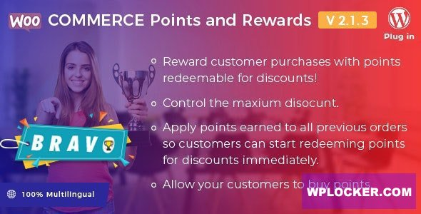 Download free Bravo v2.1.3 – WooCommerce Points and Rewards
